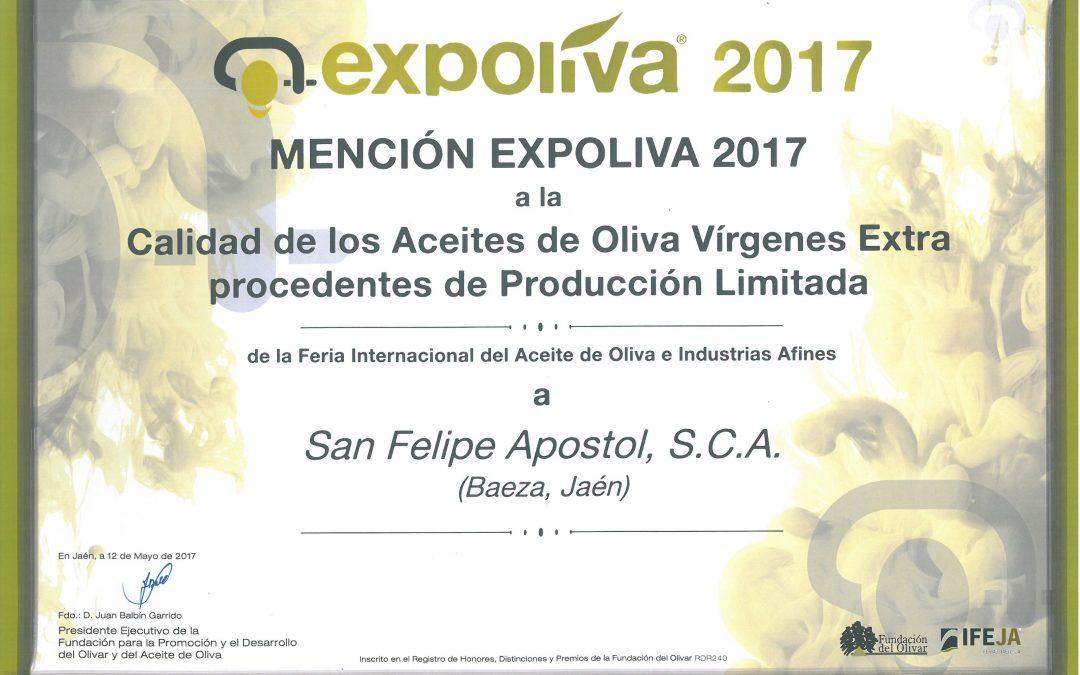 Mención EXPOLIVA 2017